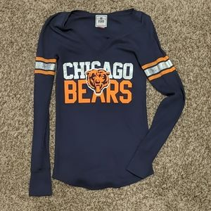 VS Pink Chicago Bears V-Neck Waffle Knit Thermal